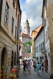 Vieille ville ?eský Krumlov République Tchèque Photo stock