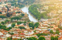 Vieille ville et architecture de Tbilisi photographie stock