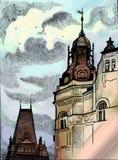 Vieille ville européenne Prague-médiévale Photographie stock
