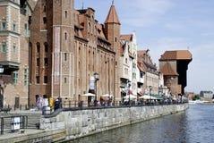 Vieille ville historique de Danzig en Pologne Images libres de droits