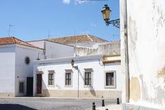 Vieille ville historique Faro sur la côte d'Algarve Images stock