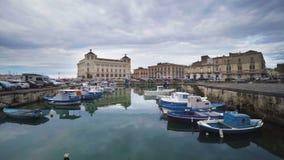 Vieille ville l'Europe de l'Italie, Sicile, Syracuse banque de vidéos