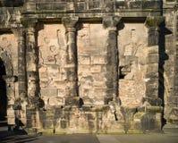 Vieille ville la Moselle de Trier de nigra de Porta de bâtiment romain Photo libre de droits