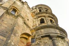 Vieille ville la Moselle de Trier de nigra de Porta de bâtiment romain Photos stock