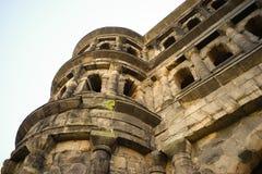 Vieille ville la Moselle de Trier de nigra de Porta de bâtiment romain Images libres de droits
