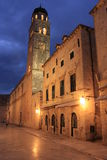Vieille ville la nuit, Dubrovnik, Croatie Photo stock
