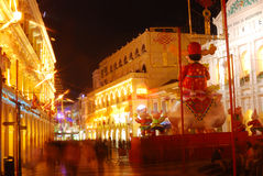 Vieille ville, Macao Photographie stock