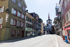 Vieille ville Mellingen en Suisse Photos libres de droits