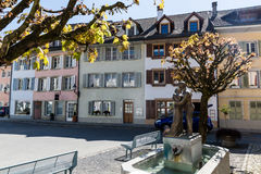 Vieille ville Mellingen en Suisse photos stock