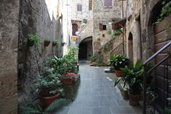 Vieille ville Pitigliano photo libre de droits