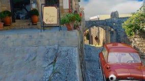 Vieille ville - Rhodes banque de vidéos