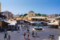 Vieille ville Rhodes Greece Images libres de droits