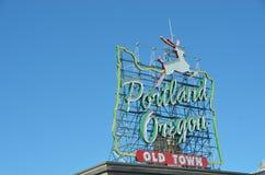 Vieille ville, signe 2 de Portland, Orégon, Orégon images libres de droits