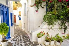 Vieille ville sur l'île de Naxos, Cyclades, Grèce Image libre de droits