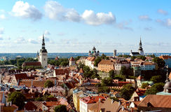 Vieille ville (Tallinn, Estonia= Photos stock