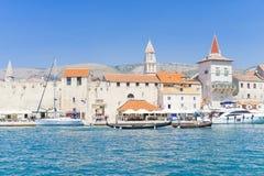 Vieille ville Trogir, Croatie - 19 juillet 2017 Image libre de droits