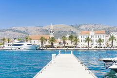 Vieille ville Trogir, Croatie - 19 juillet 2017 Photographie stock