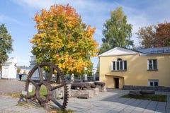 Vieille vitesse de vintage en parc du gouverneur, Petrozavodsk, Carélie, Russie images libres de droits