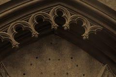 Vieille voûte gothique ruinée Photographie stock