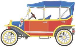 Vieille voiture de cru de jouet brillamment colorée illustration libre de droits