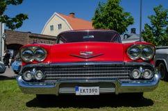 Vieille voiture de minuterie de Chevrolet Impala 1958 Image libre de droits