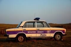Vieille voiture de police azerbaïdjanaise Image libre de droits