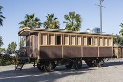 Vieille voiture ferroviaire en bois dans le musée à Tel Aviv Photographie stock libre de droits