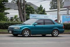 Vieille voiture privée, Toyota Corolla photos stock