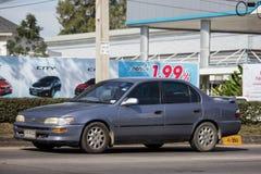 Vieille voiture privée, Toyota Corolla image libre de droits