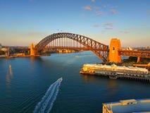 Vieille vue aérienne de Sydney Pier et de quai Photo libre de droits