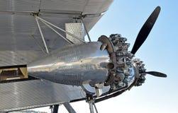 Vieille vue de moteur d'avion de propulseur Images stock
