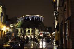 Vieille vue 1 de nuit de Montréal images libres de droits