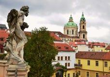Vieille vue de Prague, République Tchèque Photographie stock libre de droits