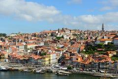 Vieille vue de rivière de ville de Porto, Porto, Portugal photographie stock libre de droits