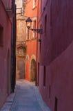 Vieille vue de rue, Italie Images stock