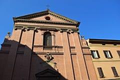 Vieille vue de ville à Bologna, Italie Images libres de droits