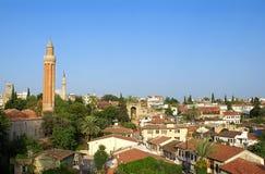 Vieille vue de ville d'Antalya Photographie stock libre de droits