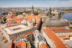 Vieille vue de ville de Dresde photographie stock libre de droits