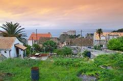 Vieille vue de ville de Dubrovnik Photos libres de droits