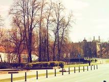 Vieille vue de ville de vintage Image stock