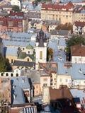 Vieille vue de ville, Lviv Image stock