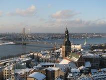 Vieille vue de ville, Riga photographie stock libre de droits