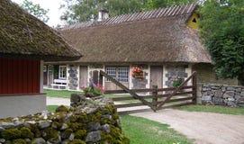 Vieille vue historique de village Image stock