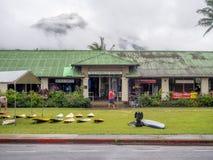 Vieille zone d'atelier d'école de Hanalei Images libres de droits