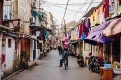 Vieille zone résidentielle à Changhaï Image libre de droits