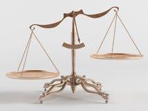 Vieilles échelles de laiton Images libres de droits