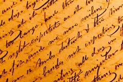Vieilles écritures Images stock