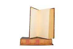 Vieilles étagères à livres d'isolement sur le fond blanc Photo stock