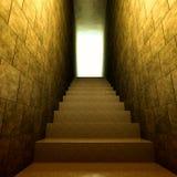 Vieilles étapes dans la lumière illustration de vecteur