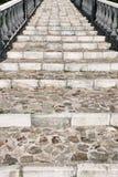 Vieilles étapes en pierre Photo libre de droits